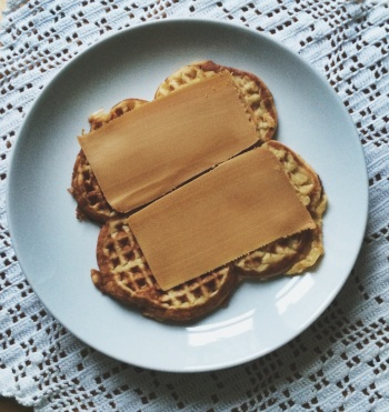 Waffle and brunost